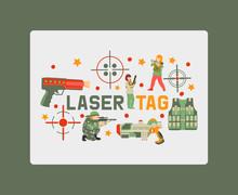 Laser Tag Game Banner, Poster ...