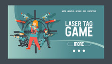 Laser Tag Game Set Of Banners ...