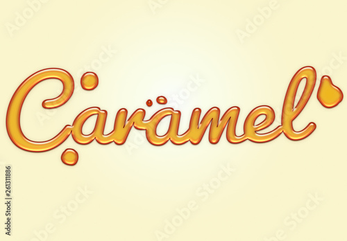 Caramel Liquid Text Effect  Buy this stock template and