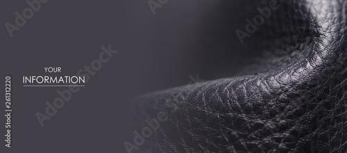Pinturas sobre lienzo  Black leather material texture fashion pattern on blur background