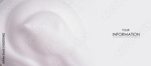Fototapeta  White foam macro clean beauty care texture pattern nature background