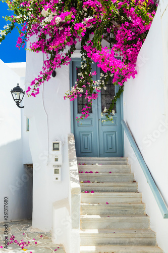 Traditional authentic Greece series - old streets of Naxos island, Cyclades