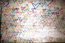Graffiti Heart Background Wall
