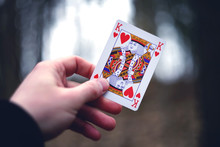 King Of Hearts Card In Hand