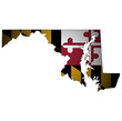 maryland state with flag