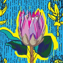Seamless Pattern With Proteas....