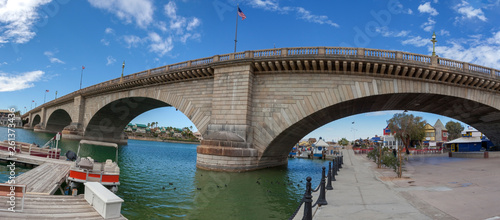 Canvas Prints Arizona London Bridge spanning Lake Havasu in Arizona.