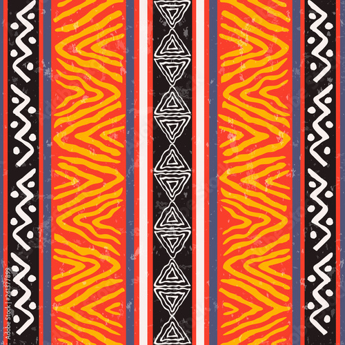 Photo  Wild ethnic african art background pattern