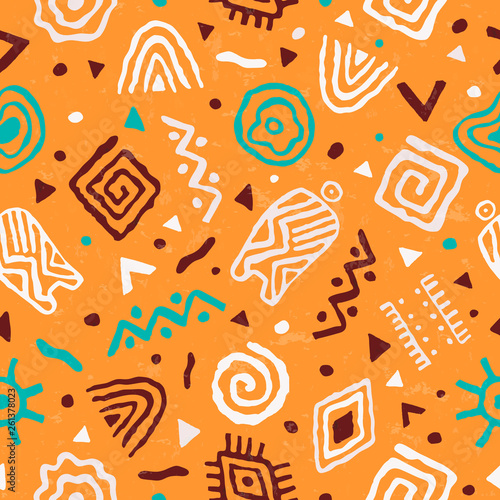 Abstract african art tribal seamless pattern Wallpaper Mural