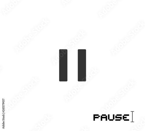 Fotografie, Obraz  flat pause icon