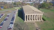 Aerial View Nashville Parthenon Bright Sunny Day.