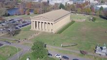 Tourists Outside The Parthenon, Nashville, Tennessee.