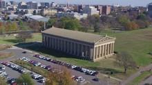 Aerial View Circling Around Nashville Parthenon.