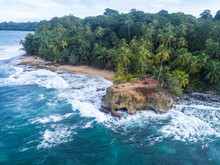 Aerial View From National Park In Manzanillo At The Caribbean In Costa Rica