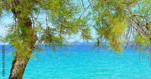 Photo Stands Turquoise Seascape, Ierissos beach, Chalkidiki, Greece
