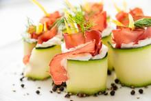 Involtini Di Zucchine Ripieni Di Prosciutto E Crema Di Formaggio