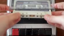 Insert Cassette On Old Retro C...