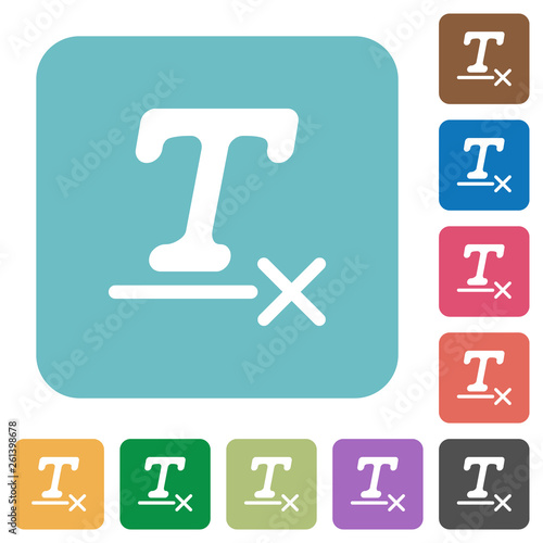 Photo  Clear text format rounded square flat icons