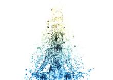 瞑想する女性のシルエット