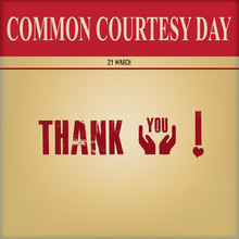 Poster For Common Courtesy Day