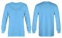 Blank Light Blue T Shirt Long ...