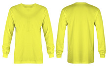 Blank Yellow T Shirt Long Slee...