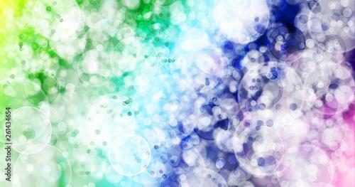 Seven colors background.Seven colors bokeh background. Wallpaper Mural