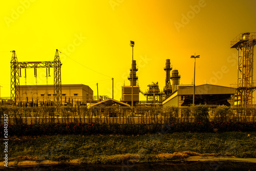 Aluminium Prints Yellow Climate change reason on earth silhouette picture style
