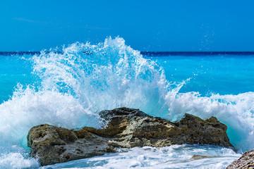 Wild sea in Lefkas