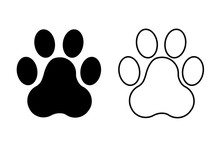 Animal's Paws Icon Isolated On...