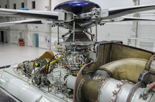 Helicopter Engine Exposed For ...
