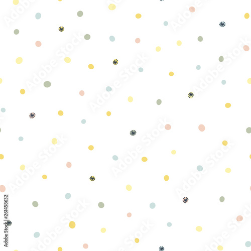 Valokuvatapetti Abstract seamless pattern with colorful spots