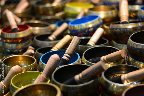 Photo Stands Kuala Lumpur the Tibetan bells