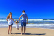 canvas print picture - happy family vacation!
