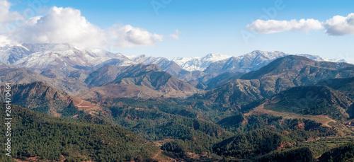 Africa morocco satin mountains snow in mountains