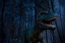 Dinosaur Statue In The Forest ...