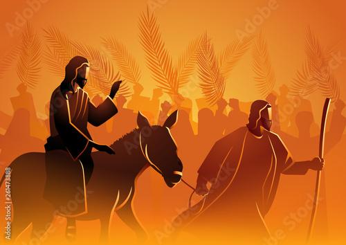 Jesus comes to Jerusalem as King Tapéta, Fotótapéta