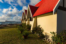 The Famous Red Church At Cap Malheureux On The Island Of Mauritius.