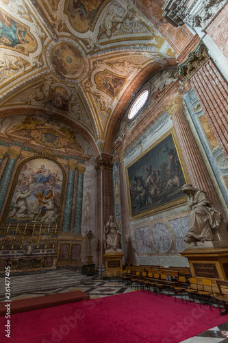 A view of of the Basilica of St. Mary of the Angels and the Marty Canvas Print