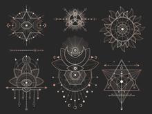 Vector Set Of Sacred Geometric...