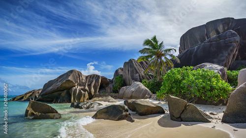 Tela  Paradise beach at anse source d'argent on the seychelles 115