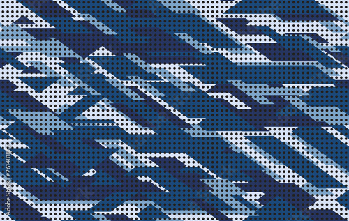 Cuadros en Lienzo Camouflage pattern background seamless vector illustration
