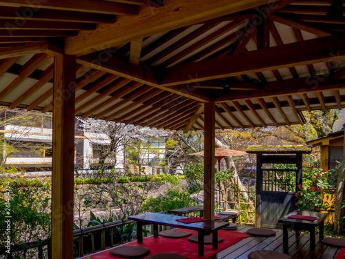 Photo  【静岡県伊豆市】修善寺温泉街の風景【春】