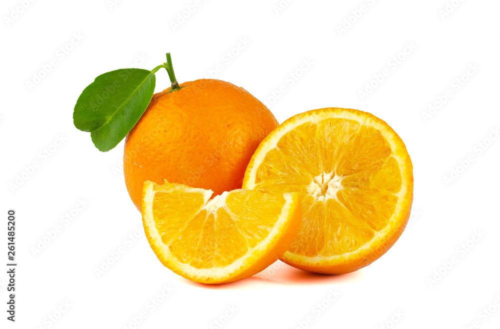 Fototapeta Navel Orange isolated on white background.