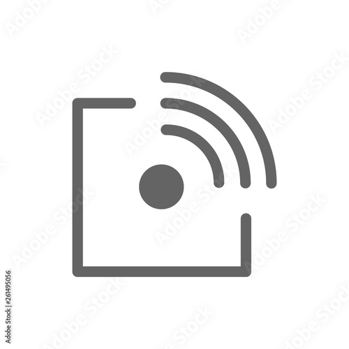 Fototapety, obrazy: Radio-frequency identification line icon.