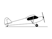 Hobby Airplane Illustration Vector Side View