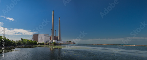 Power plant by the water
