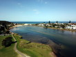 Narrabeen Lagoon, Sydney's Northern Beaches largest estuary system. View from Lakeside Park (Sydney, Australia)