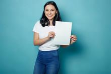 Woman Holding White Sheet
