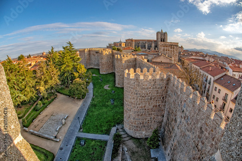 avila town spain old walls Slika na platnu